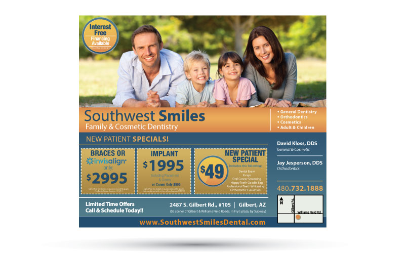 Southwest Smiles Sign Design
